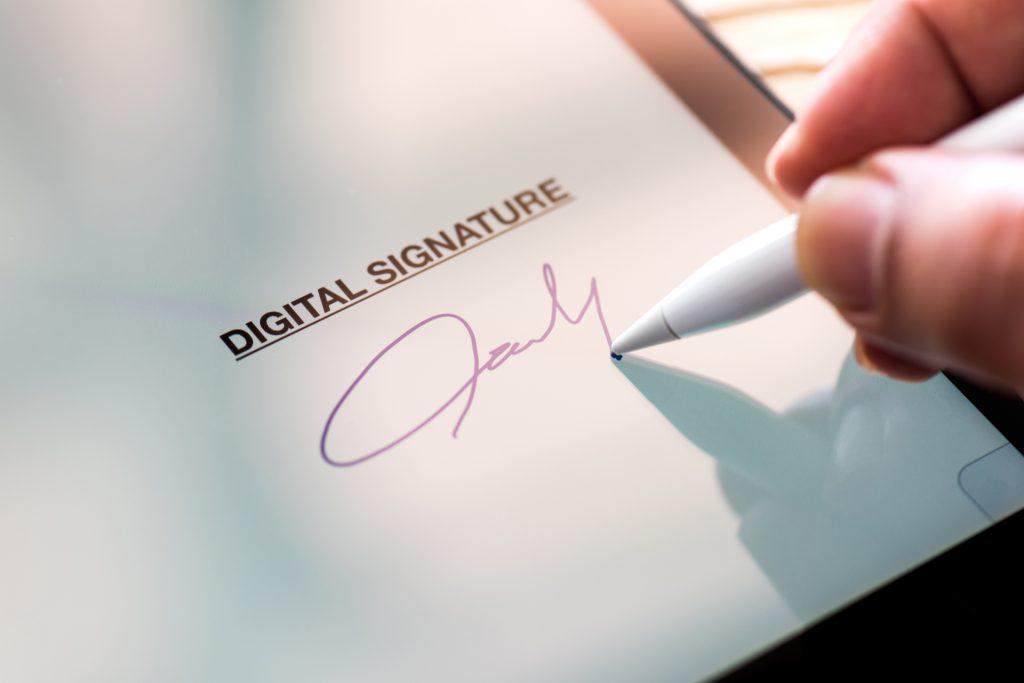 Imagen de captura de una firma